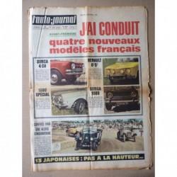 Auto-Journal n°459, les Simca 1000, Renault 8S, Datsun 1000 1600 2000, Hino Contessa, Honda N360 N600, Mazda 1500