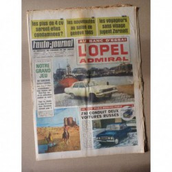 Auto-Journal n°371, Opel Admiral A, Moskwitch 408, Paris-Moscou en 4L