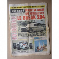 Auto-Journal n°382, Jaguar Type E 4.2l, les Renault 4L, General Motors, tunnel du Mont-Blanc