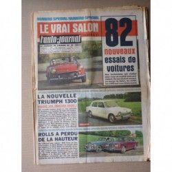 Auto-Journal n°387, Rolls Royce Silver Shadow, Bentley Série T, 82 essais 1965
