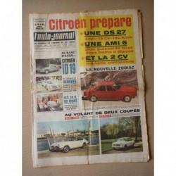 Auto-Journal n°400, Citroën ID19, Glas 1700 GT, Autobianchi Primula coupé, Citroën Dyane