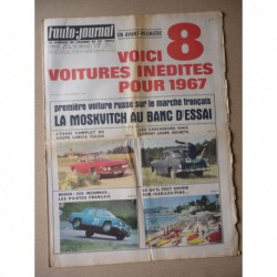Auto-Journal n°407, Renault 16, Lancia Fulvia Coupé, Moskvitch 1300, Karmann, Ford et Opel 1967, Reims Rouen 1966
