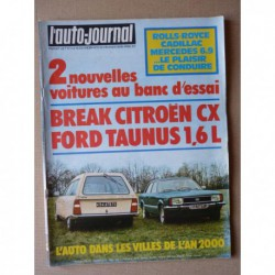 Auto-Journal n°03-76, Ford Taunus Ghia, Citroën CX2000 break, Cadillac Séville, Silver Shadow, Mercedes 450SEL, Aro Indénor