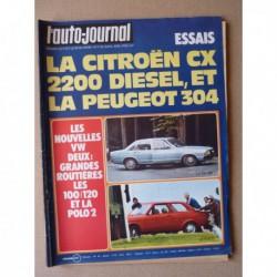 Auto-Journal n°07-76, Citroën CX2200 Diesel, Peugeot 304, Cournil 2.6L, Rolls Royce Silver Wraith