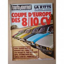 Auto-Journal n°09-76, Renault 17TS, Simca 1308, Opel Ascona GLS, Fiat 131S, BMW 316, Ford Taunus GL, Pincess 1.8, VW Passat