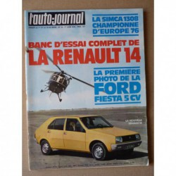 Auto-Journal n°10-76, Renault 14 TL, Simca 1308 GT, Fiat 131S, Princess 1.8L, Renault 20L, Buick Special 1951