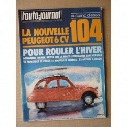 Auto-Journal n°20-76, Volkswagen Scirocco GLI, Peugeot 104 SL, Jeep CJ7 Renegade, Dodge Ramcharger, Simca Racing Team