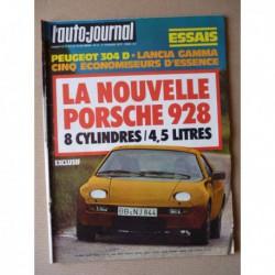 Auto-Journal n°02-77, Lancia Gamma 2.5, Peugeot 304 GL Diesel, Porsche 928, BMW 328 Replica, Fiat 131 Abarth, Renault A442