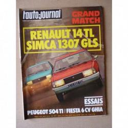 Auto-Journal n°05-77, Peugeot 504 TI, Ford Fiesta Ghia, Matra Simca Rancho, Porsche 928, Rolls Royce Silver Shadow II