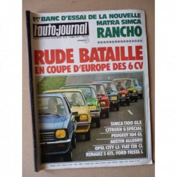 Auto-Journal n°09-77, Matra Simca Rancho, Stutz Blackhawk, Veltt 4x4 diesel, Fiat 127, les 6cv à l'essai