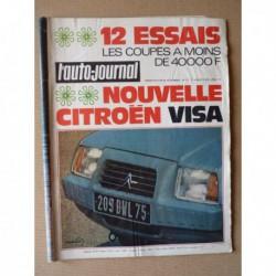 Auto-Journal n°12-78, Fiat X1/9 Lido, Triumph TR7, Simca Bagheera, Toyota Celica Liftback, Fiat 128 Sport, Kadett Rallye