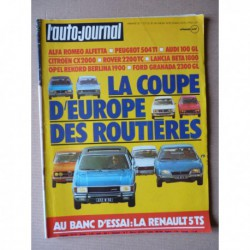 Auto-Journal n°09-75, AMC Pacer, Renault 5TS, Mercedes 450SEL, Ford Granada 2300GL, Rover 2200TC, Audi 100GL, Opel Rekord