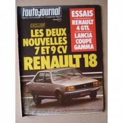 Auto-Journal n°03-78, Lancia Gamma coupé, Renault 4 GTL, Aston Martin Lagonda, La Clénet, AMC Pacer V8