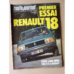 Auto-Journal n°07-78, Lada Niva 4x4 1600, Renault 18 GTS, Char AMX 30, ateliers Panther, Jean David Citroen CX Diesel