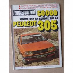 Auto-Journal n°11-78, Alméras Frères Porsche, Honda Accord berline, Peugeot 305 SR, Alfa Romeo Alfasud 1500