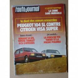 Auto-Journal n°21-78, Toyota Starlet, Renault 14 GTL, Porsche 924 Turbo, Polski Polonez, Citroën Visa Super, Peugeot 104 SL
