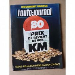 Auto-Journal n°01-80, Renault 20 GTD, Zastava 1100 Contact, Luigi Colani, Jean-Marie Balestre