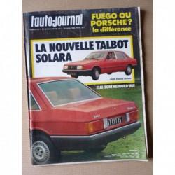 Auto-Journal n°07-80, Peugeot 305 break, Ford Fiesta 950, Volkswagen Iltis, Talbot Solara, Renault Fuego GTX, Porsche 924