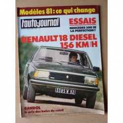 Auto-Journal n°13-80, Mercedes 500SE, Renault 18 GTD, Bertone, Cournil 2L, David Thieme