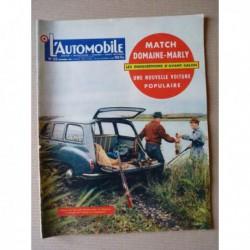 L'Automobile n°125, Simca Marly, Renault Frégate Domaine, Saab 93, Microcar 125 Gnöme et Rhône, Émile Mathis, Harry Schell