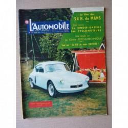 L'Automobile n°135, Singer Gazelle, Renault Dauphine Ventoux 28 32 40, Ernest Henry
