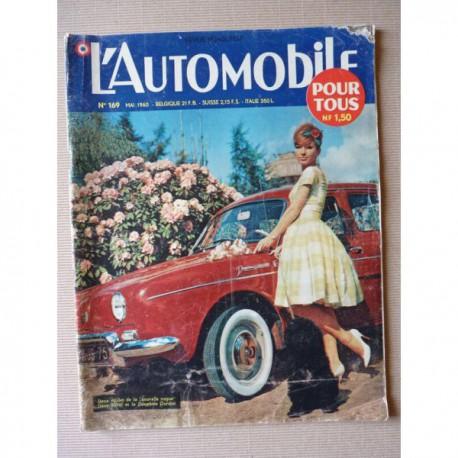 L'Automobile n°169, Fiat 2100, Dauphine Gordini, Peugeot 403 Sept, Bonnal et Chambon