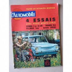 L'Automobile n°206, Hillman Imp, Citroën 2cv AZAM, Triumph TR4, Rolls-Royce Bentley, Mini Cooper S, Delage 1913