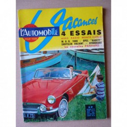 L'Automobile n°207, MG MGB 1800, Opel Kadett A, Chrysler Valiant, Rolls Royce Silver Cloud Bentley Continental, 24C 24CT