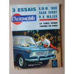 L'Automobile n°215, Renault 8 Major, Saab Sport, BMW 1800, Chevelle, Fiat Abarth 595 SS, Ferrari 330GT, Charles John Cooper