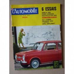 L'Automobile n°217, Simca 1500, Ford Corsair GT, Opel Diplomat V8, AC Cobra, Rolls Royce Silver Dawn, Paris-Rhône