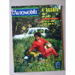 L'Automobile n°218, NSU Prinz 1000, Fiat 1500 L, Citroën Ami 6, Alfa Romeo Giulia, Fiat Osca Testa Rossa