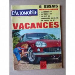 L'Automobile n°219, Ferrari 330 GT, Volvo 132 B18, Panhard PL17, Lamborghini 350 GT, Riley Elf