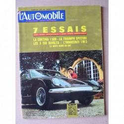 L'Automobile n°220, Triumph Spitfire 4, Ford Cortina 1500, ISO Rivolta, ATS GT et GTS, Innocenti Morris IM3
