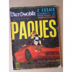 L'Automobile n°240, Oldsmobile F85, Peugeot 204 break, Lamborghini Miura P400, Piollet 404 GT, Cooper 1300TS Austin 1300GT