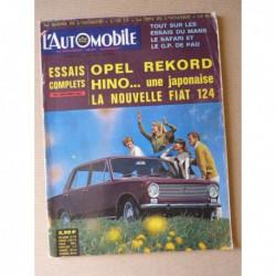 L'Automobile n°241, Opel Rekord 1700L, Hino Contessa 1300, Fiat 124, Alfa Romeo Spider, Sprint GT Veloce, Ford Zephyr