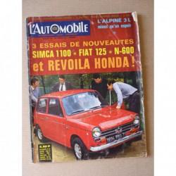 L'Automobile n°259, Fiat 125, Honda N600, Panhard, Le pétrole