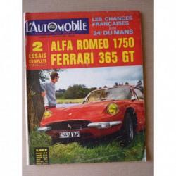 L'Automobile n°266, Alfa Romeo 1750 berline, Ferrari 365 GT, Alfa Romeo 1750 1929-32, Ferrari V12