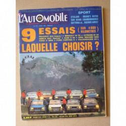 L'Automobile n°275, Audi Super 90, Citroën ID20, Simca 1501 Spécial, Volkswagen 411L, Ford Cortina 1600E, Taunus 17M RS