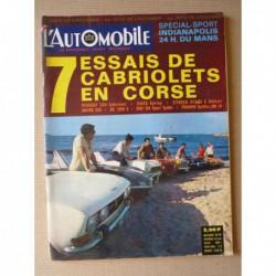 L'Automobile n°278, Matra 530, CG 1200S, Fiat 124 Sport Spider, Triumph Spitfire MK3, Siata Spring, Citroën Méhari