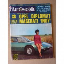 L'Automobile n°279, Opel Diplomat 2.8L, Maserati Indy, Maserati