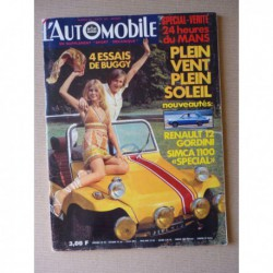 L'Automobile n°290, Buggy Buffalo Minibug Sunhill Punch Multimaco, Simca 1100 Special, Bond Bug, McLaren, Peter Townsend