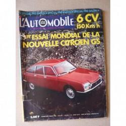 L'Automobile n°292, Citroën GS, Autobianchi A112, Triumph Toledo, Simca CG MC, Autocross Renault 4cv