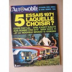 L'Automobile n°294, Renault 12 Gordini, Alfa Romeo 1750 GT Veloce, BMW 2002TI, Fiat 124 Sport Coupe, Opel Kadett Rallye