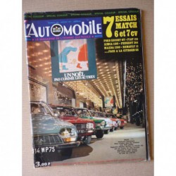 L'Automobile n°296, Peugeot 504, Citroën GS, Fiat 128, Ford Escort GT, Mazda 1200, Peugeot 304, R12, Simca 1100 Special