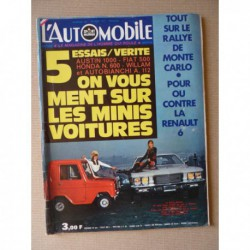 L'Automobile n°297, Renault 6 TL, Autobianchi A112, Mini Clubman 1000, Fiat 500L, Honda N600, William City, Solex 3800