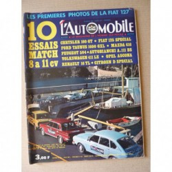 L'Automobile n°298, Opel Ascona Luxe, Mazda 616, Fiat 125 Special, A111 BS, Taunus 1600 GXL, Volkswagen 411 LE, 504, R16TL