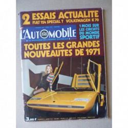 L'Automobile n°299, Volkswagen K70, Fiat 124 Special T, Alpine A310, Mario Andretti, Corinne Koppenhague, Rolls Royce