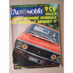 L'Automobile n°303, Fiat Polski 125P, Renault 15 et 17, Lunakhod et Lunar Roving Vehicle, Kawasaki 350 A7