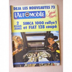 L'Automobile n°311, Fiat 128 Sport Coupé, Simca 1000 Rallye 1, Lamborghini Countach LP500, Amedée Bollée