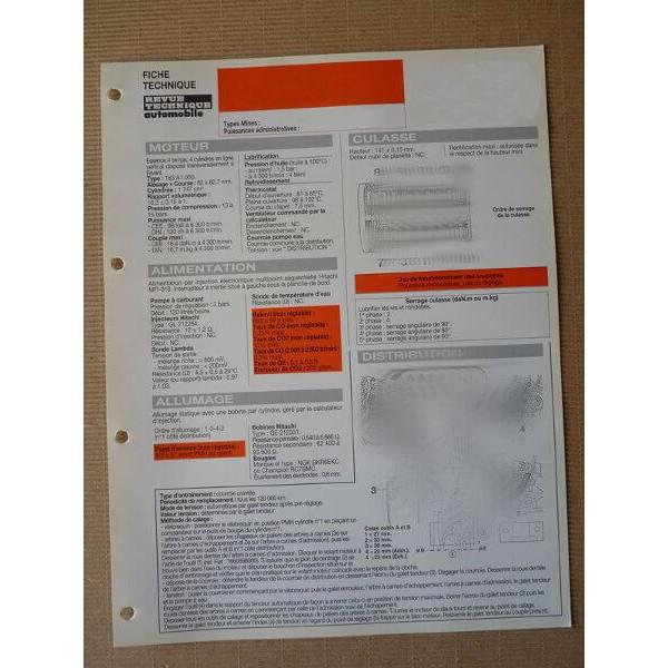 fiche technique bmw 318 tds pack et compact e36 cj51 cj50 90ch m41d17 4cv